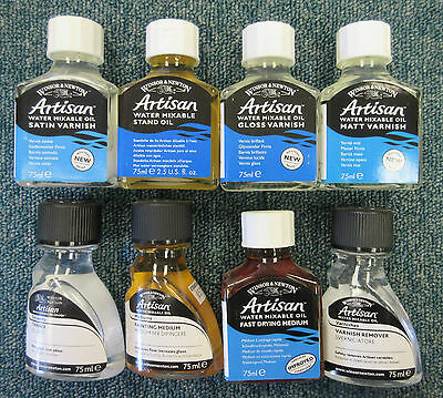 Winsor & Newton Artisan Water Mixable Oil Mediums/Thinner/Varnishes 75ml