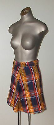 1970`s  Plaid Skirt - Girls Size 12 by Majdell Made in Canada