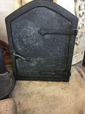 Iron Spanish Revival Fire Place Furnace Door