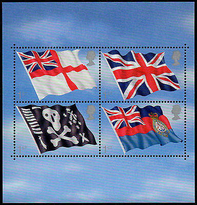 GREAT BRITAIN Sc. 1999 SS British Flags 2001 MNH