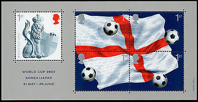 GREAT BRITAIN Sc. 2056 SS Soccer 2002 MNH