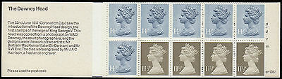 GREAT BRITAIN booklet SG FL2A £1.30 The Downey Head  MNH