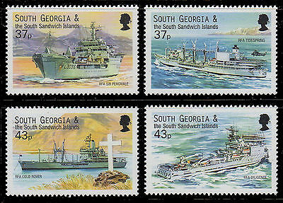SOUTH GEORGIA Sc. 266-9 Auxiliary Vessels 2001 MNH VF