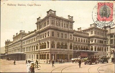 Rare Tcv Postcard South Africa Cape Town 1927 Collectors Stamp Tcv 248