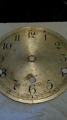 Old brass clock face 5.9""