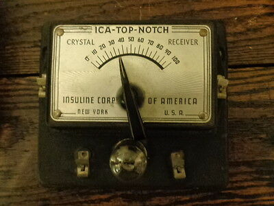 Top Notch crystal set radio by crystaline corp. of america with original box!