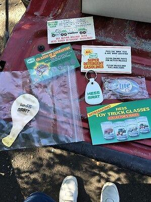 Hess Gas Station Lot NOS Balloon Keychain Mileage Guide