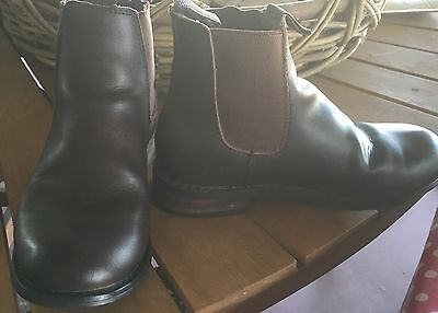 Thomas Cook Horse Riding Boots Youth Kids Leather Jodhpur Boots Brown Size 2