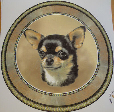 Ceramic Decal    LARGE PLATE SIZE 190mm diam.    CHIHUAHUA