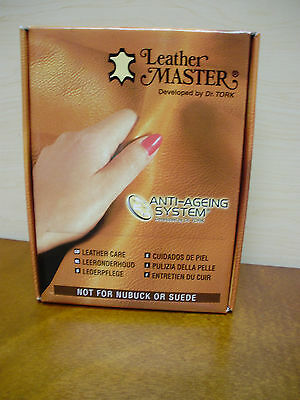 Leather Masters Anti-Aging Leather Care System By Dr. Tork NIB 250ML