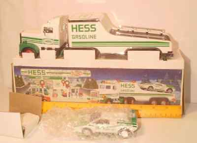 Hess Toy Truck with Race Car in original box unused