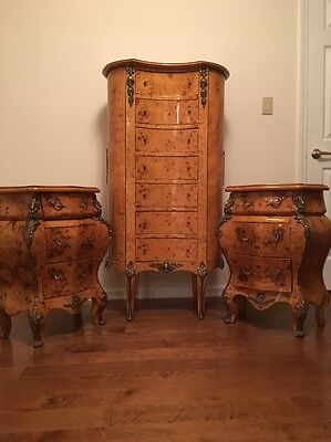 Pair of French Louis Style Nightstand Pairs And High Boy