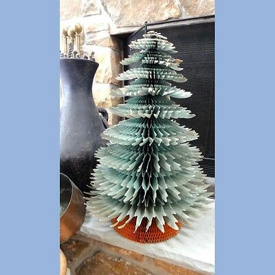 "vintage 25"" CHRISTMAS TREE ACCORDIAN TISSUE PAPER beistle HOLIDAY DECORATION"