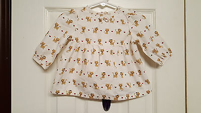 Girls Size 3-6 Months Gymboree Glamour Kitty Long Sleeve Shirt