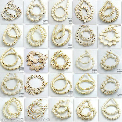 White Turquoise Beads Gemstone 15'' Strand Lots Shape Size Choose Wholesale