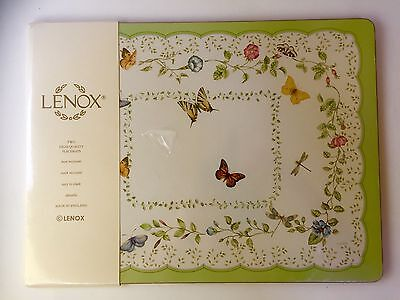 Lenox 2 Quality Hardboard Placemats Cork Backing Butterfly Meadow