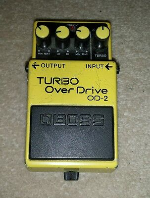 Boss OD-2 Turbo Overdrive,  Guitar Effect Pedal