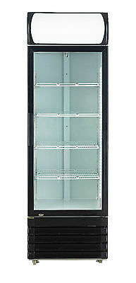 Chillmatic 1 Door 320L Commercial Upright Glass Display Drinks Storage Fridge