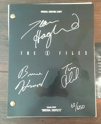 SIGNED The X-Files Season 5 Episode #03 SCRIPT! #62/650 LIMITED! with COA!