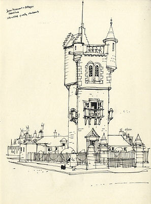 Paul Sharp - Mid 20th Century Pen and Ink Drawing, Burns' Monument, Ayr