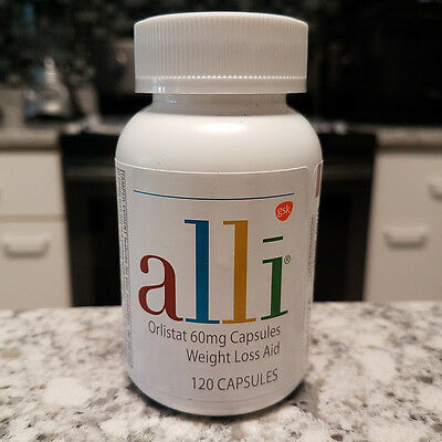 ALLI ORLISTAT 120 CAPSULES 60 MG Weight Loss Aid Expiration 2018 - FREE SHIPPING