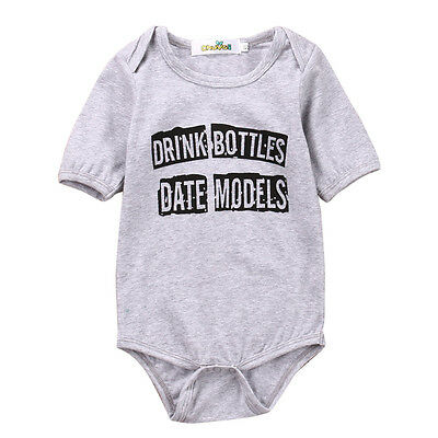 Infant Baby Girl Boy Cloth Bodysuit Romper Jumpsuit Playsuit Outfits Clothes NY
