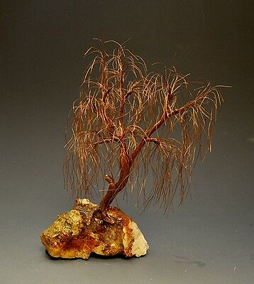 Weeping Willow Copper Wire Tree  Art Sculpture  - 2252 - FREE SHIPPING