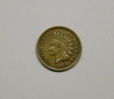 1864 Indian Cent in VF