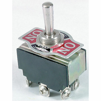 DPDT 6A 240VAC Heavy Duty Centre Off Standard Toggle Switch ST0576
