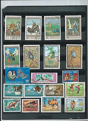 Mongolia. Selection Of 19. C/t/o.  No Gum.  As Per Scan