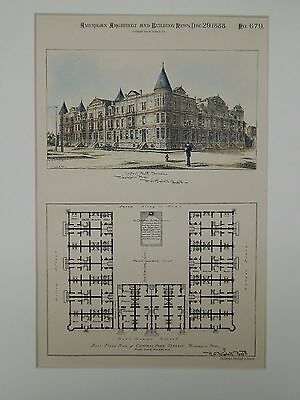 Central Park Terrace, Minneapolis, MN, 1888, Original Plan