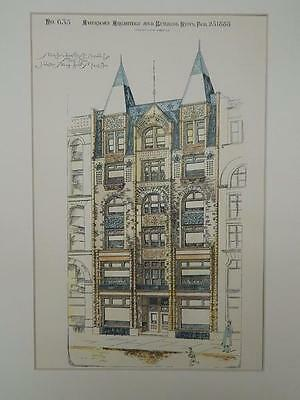 Store Building for S. E. Mayall, St. Paul, MN, 1888, Original Plan