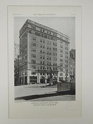 Ashburton Apartments, Boston, MA, 1929, Lithograph
