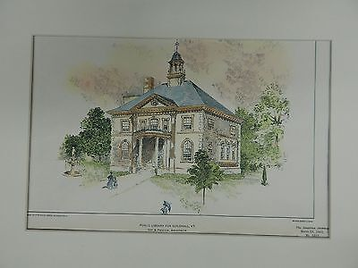Public Library for Guildhall, VT, 1901, Gay & Proctor, Original Plan.