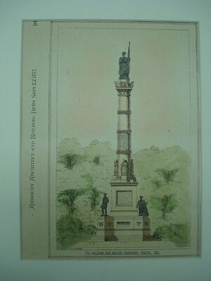 The Soldiers and Sailors Monument, Boston, MA, 1877, Original Plan