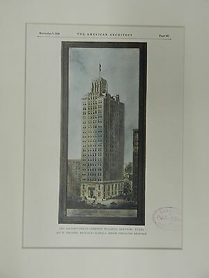 San Jacinto Trust Company Building, Houston, TX, 1928, Original Plan.