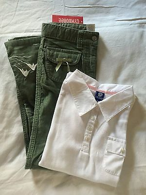 Lot Of Gymboree Embroidered Winter Pants And Top Girls Size 8 Nwt