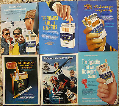 Collectable advertising,Rothman's cigarettes.