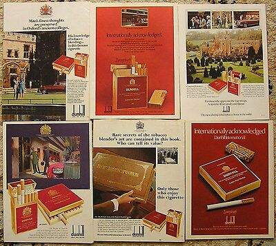 Collectable advertising,Dunhill cigarettes.