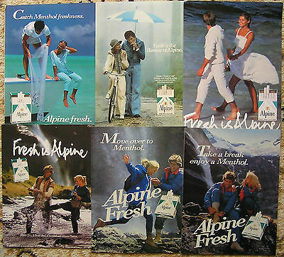 Collectable advertising,Alpine cigarettes.
