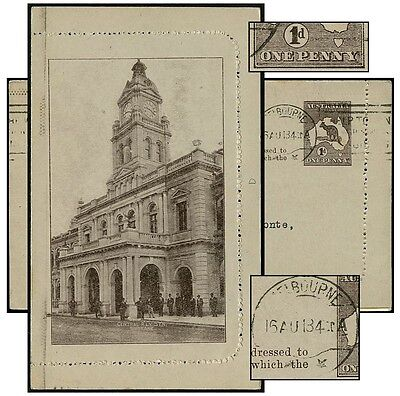 Australia Ps Central Rly Stn Rectangle Aug 1913