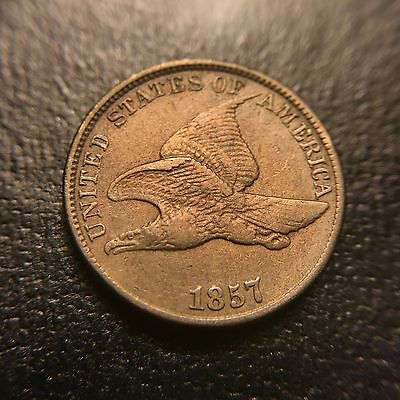 1857 Flying Eagle Cent UNC Uncirculated Copper Nickel Type Coin 1c