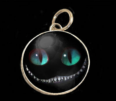 """Cheshire Cat 12MM 1/2"""" Pendant Charm by IMCC & Crystal Dangle by jewel kade"""
