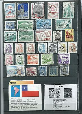 Chile. 1973-75.  Selection Of 31. Fine Used  As Per Scan