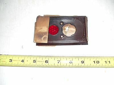 Old Vintage Bakelite Electrical Switch Plate Cover With Jewel Brown  New