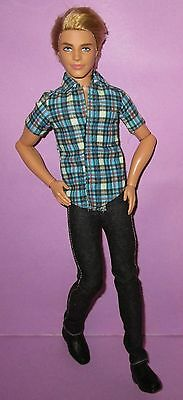 Barbie Fashionistas Poseable Jointed Ken Male Boy Ryan Articulated Doll Blonde B