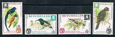 Seychelles 1976 Ornithological Congress CHALK SG 369a/72a MNH