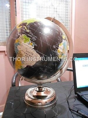 Contemporary World Table Decor Globe with Stand Nautical Authentic Globe