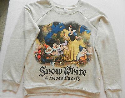 Women's Size XS Disney Snow White and the Seven Drarves Sweatshirt Top Shirt