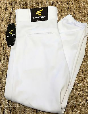 EASTON Boys Youth Deluxe Baseball Pants White Youth Large A164002 New Tags